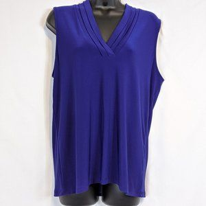 Anne Klein violet sleeveless blouse Size Large